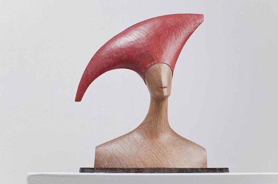 Frau mit rotem Hut Barbara Uebel .jpg