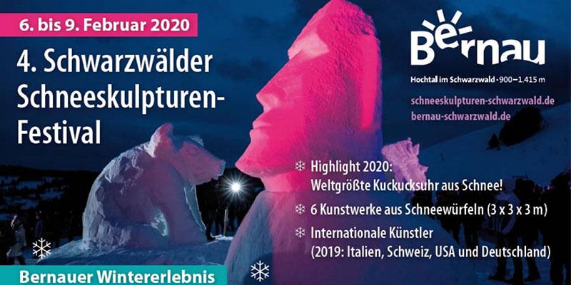 Schwarzwälder Schneeskulpturen-Festival 2020, Bernau